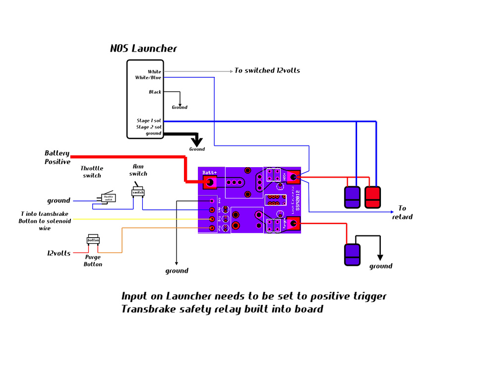 Wiring diagram for NOS Launcher w/ Leash Electronics Single ... on
