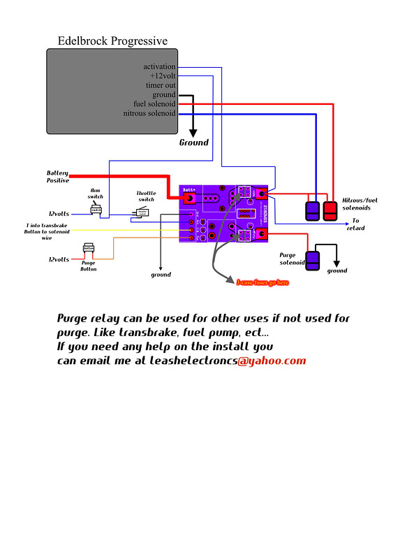 wiring diagram leash single stage board and edelbrock progressivere wiring diagram leash single stage board and edelbrock progressive controller